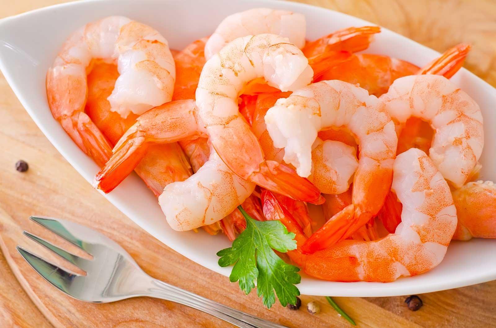 Golden Phoenix seared shrimps.